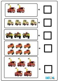 Impara a contare con Sam il pompiere - Esercizi prescolari