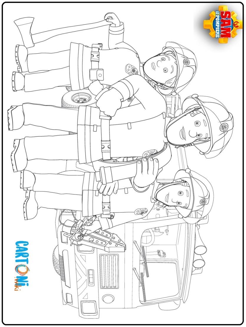 Colora Sam Jupiter e il suo team - Cartoni animati