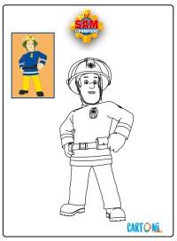 Disegni da colorare di Sam il pompiere - Disegni da colorare
