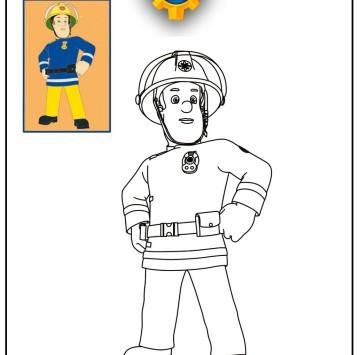 Disegni da colorare di Sam il pompiere - Cartoni animati