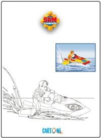 Disegno Sam il pompiere da colorare - Stampa e colora
