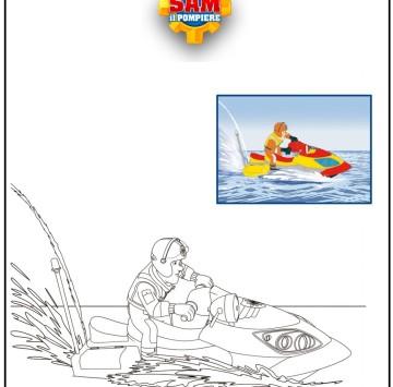 Disegno Sam il pompiere da colorare - Cartoni animati