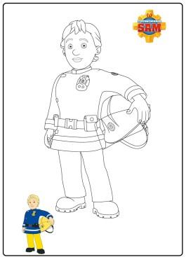 Penny da colorare da Sam il pompiere