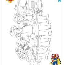 Disegno pompieri da colorare - Stampa e colora