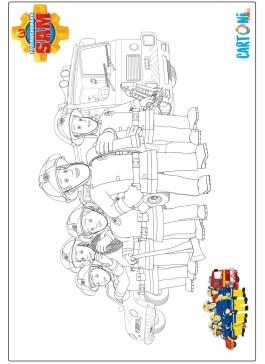 Disegno pompieri da colorare