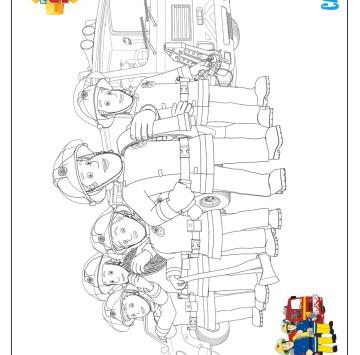 Disegno pompieri da colorare - Cartoni animati