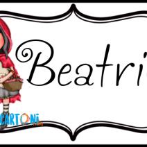 Beatrice etichetta Santoro Gorjuss Cappuccetto rosso - Beatrice
