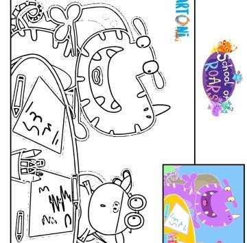 Colora simpatici mostri - Cartoni animati