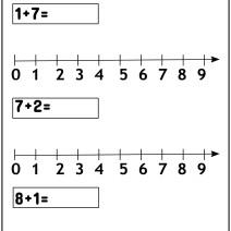Esegui le addizioni sulla linea dei numeri - Esercizi Scuola Primaria