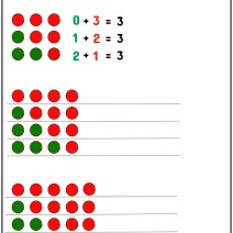 Numeri amici 3, 4 e 5 - Esercizi scuola Primaria classe prima - Esercizi Scuola Primaria