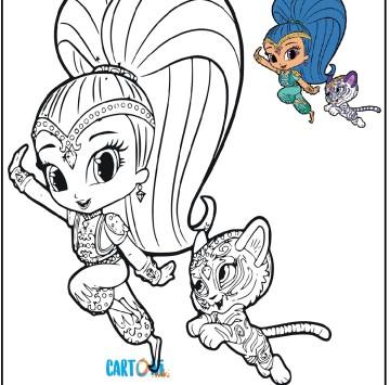 Shimmer e Shine disegno da colorare - Cartoni animati
