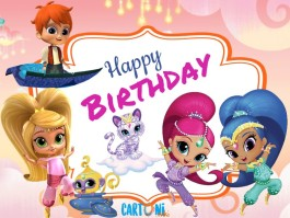 Shimmer and Shine Happy birthday