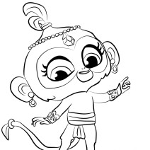 Colora Tala di Shimmer and Shine - Disegni da colorare