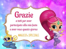 Con Shimmer and Shine vi ringrazio
