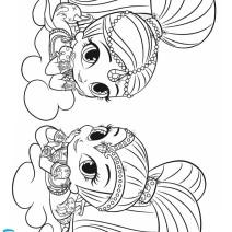 Shimmer e Shine stampa e colora - Disegni da colorare