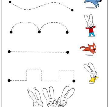 Esercizi prescolari da Stampare con Simone - Cartoni animati