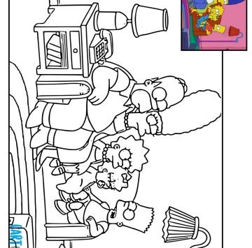 Disegni da colorare dei Simpson - Cartoni animati