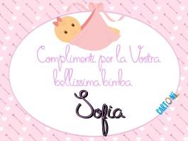 Auguri per la nascita di Sofia