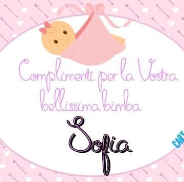 Auguri per la nascita di Sofia - Cartoni animati
