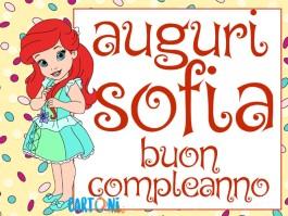 Sofia auguri buon compleanno