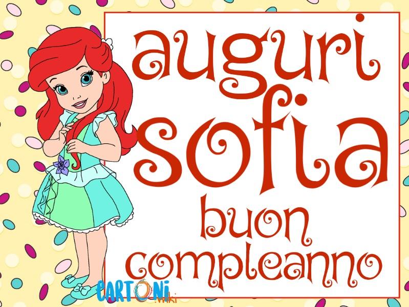 Sofia auguri buon compleanno - Cartoni animati