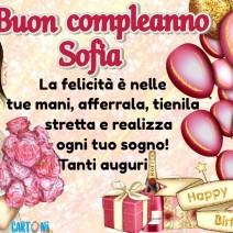 Auguri di Buon Compleanno Sofia - Sofia