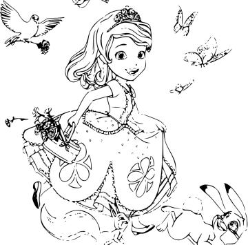 Sofia la principessa Disegni da colorare - Cartoni animati