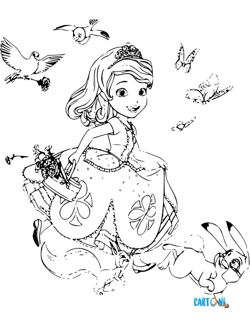 Sofia la principessa disegni da colorare cartoni animati