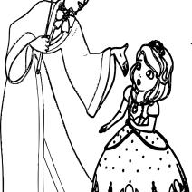 Sofia e Cedric da colorare - Disegni da colorare
