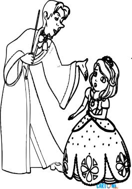 Sofia e Cedric da colorare