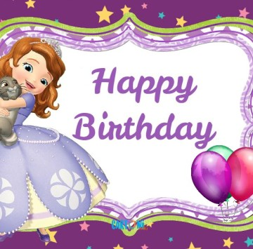 Sofia The First Happy Birthday To You