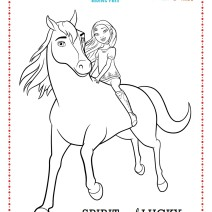 Spirit riding free disegni da colorare - Disegni da colorare