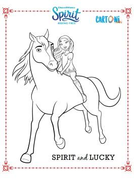 Spirit riding free disegni da colorare