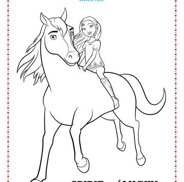 Spirit riding free disegni da colorare - Cartoni animati