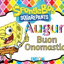 Buon onomastico con Spongebob - Buon onomastico