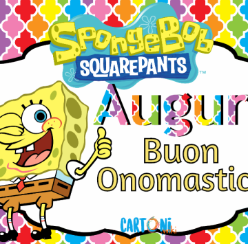 Buon onomastico con Spongebob - Cartoni animati