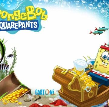 Biglietto auguri fai da te Spongebob - Cartoni animati