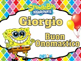 Daniele Buon Onomastico Con Spongebob Cartoni Animati
