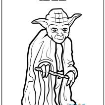 Yoda Star Wars da colorare - Stampa e colora