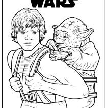 Luke e Yoda da colorare - Disegni da colorare