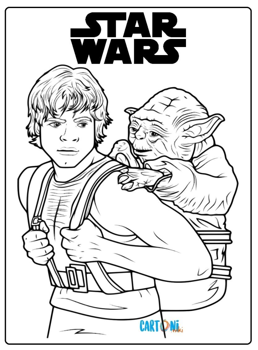 Luke E Yoda Da Colorare Cartoni Animati