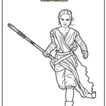 Rey Star Wars da colorare - Stampa e colora