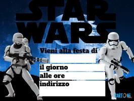Star Wars inviti festa compleanno