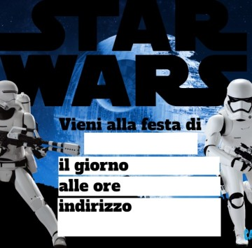 Star Wars inviti festa compleanno - Cartoni animati