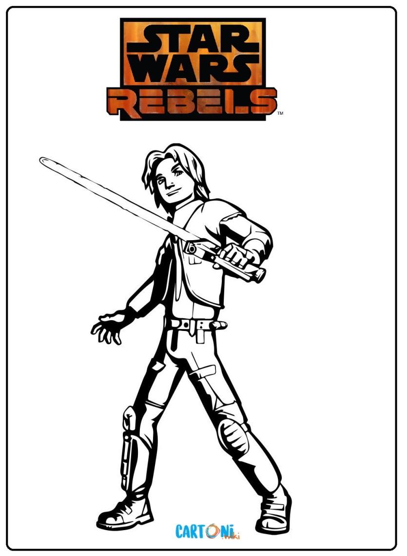 Stampa e colora Star Wars Rebels - Cartoni animati