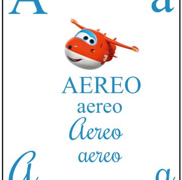 A come AEREO con i Super Wings - Cartoni animati