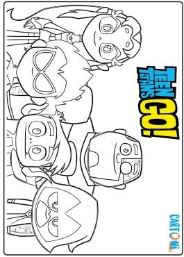 Teen Titans Go disegni da colorare
