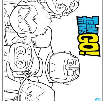 Teen Titans Go disegni da colorare - Cartoni animati
