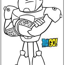 Disegno Cyborg dei Tenn Titans go - Stampa e colora