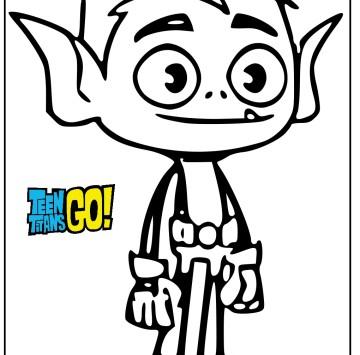 Beast Boy disegni da colorare Teen Titans Go - Cartoni animati